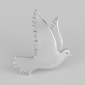 Picture of the dove in sterling, no stones